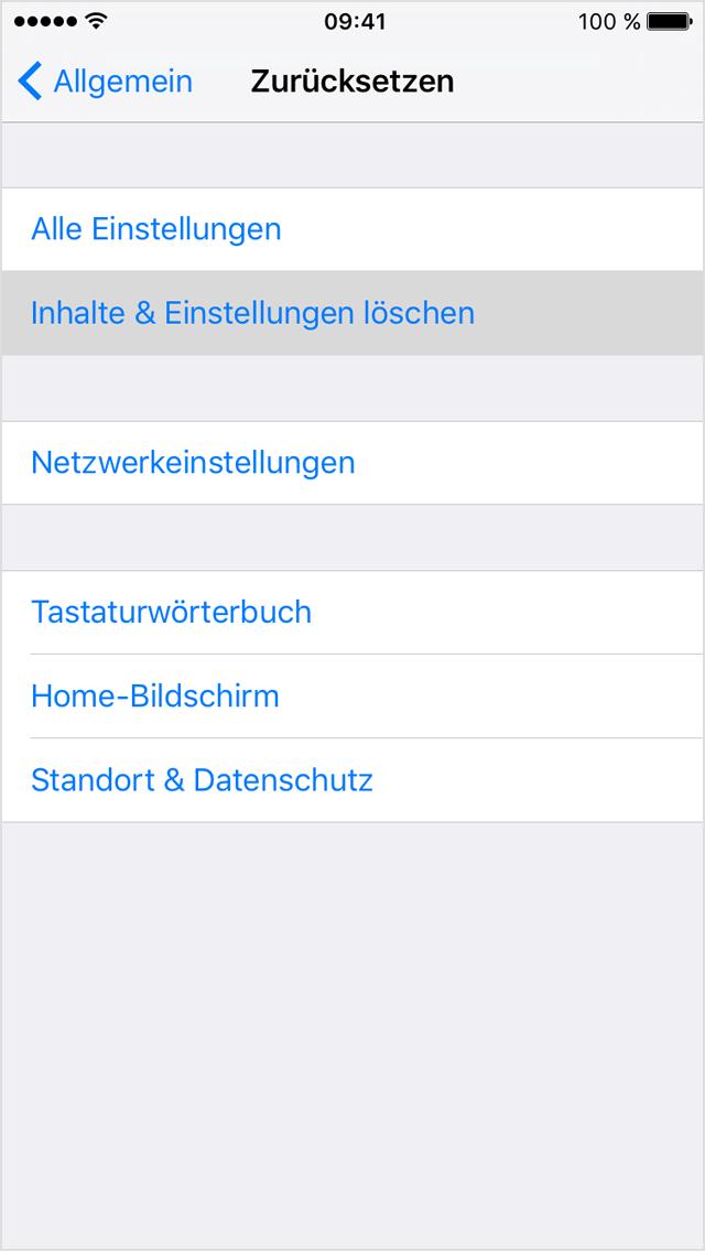 apple id löschen aus iphone neu einrichten