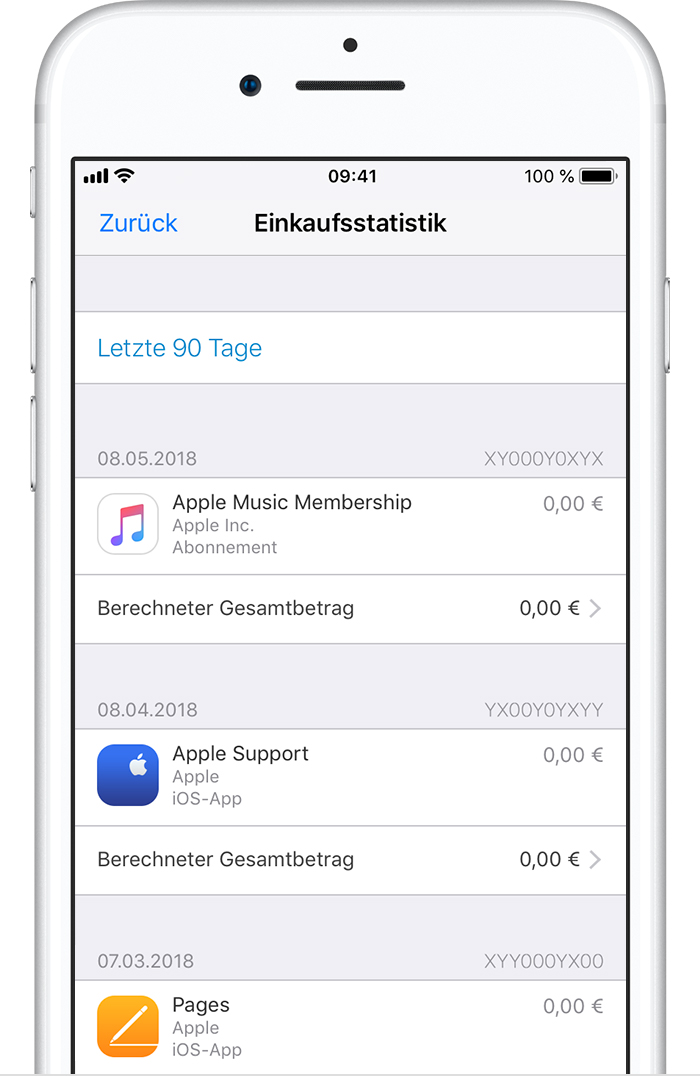 einkaufsstatistik im app store oder itunes store einsehen apple support. Black Bedroom Furniture Sets. Home Design Ideas