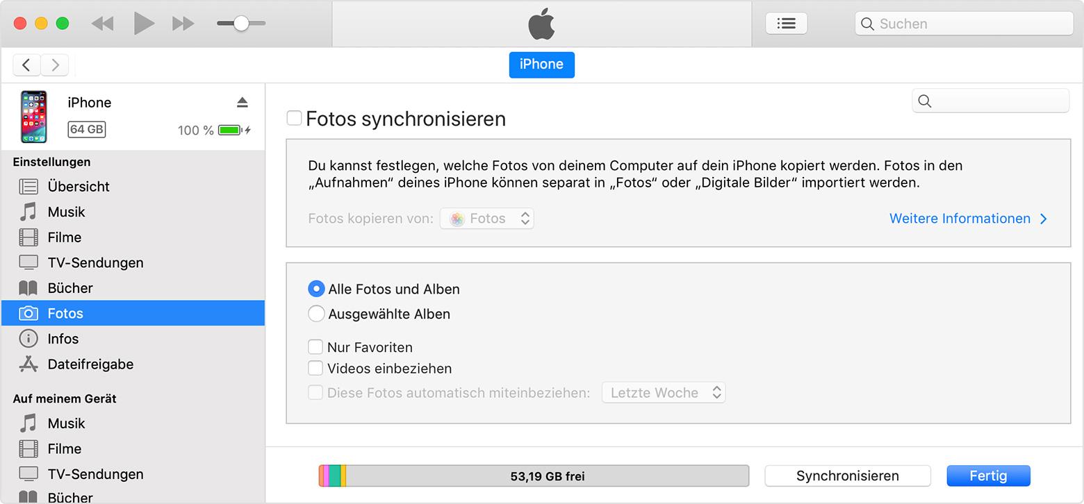 neues handy mit altem synchronisieren iphone