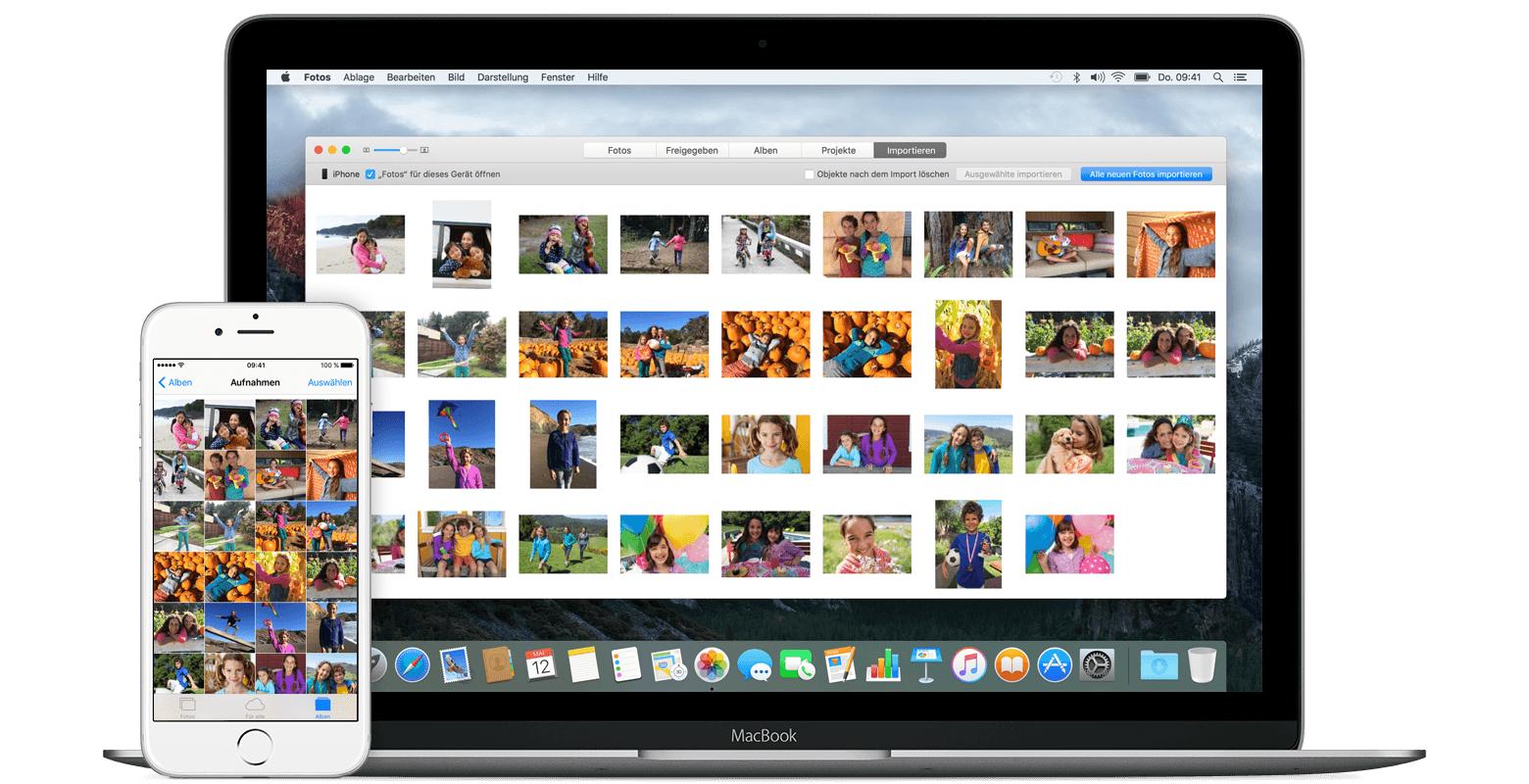 fotos und videos vom iphone ipad oder ipod touch importieren apple support. Black Bedroom Furniture Sets. Home Design Ideas