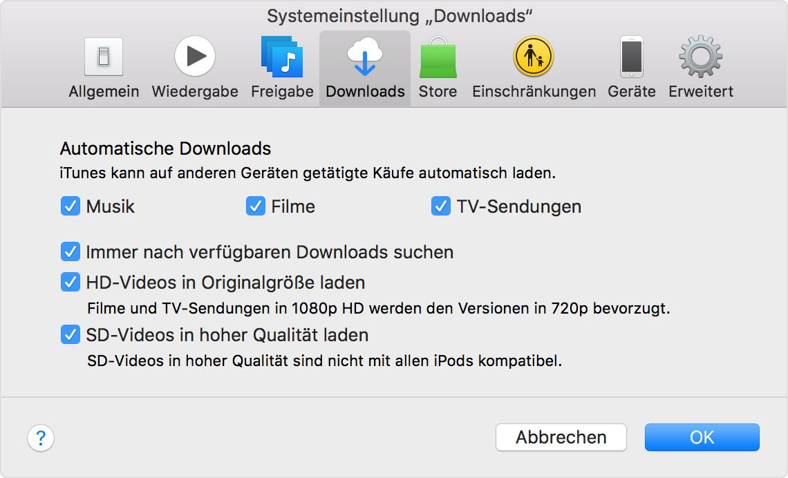 Apps über Itunes Aktualisieren