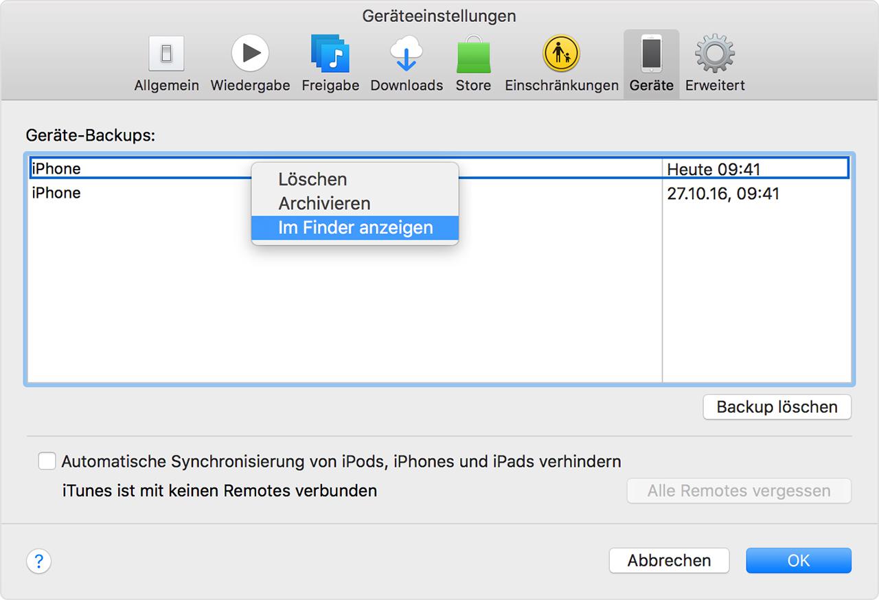 Iphone Backup Auf Mac Finden