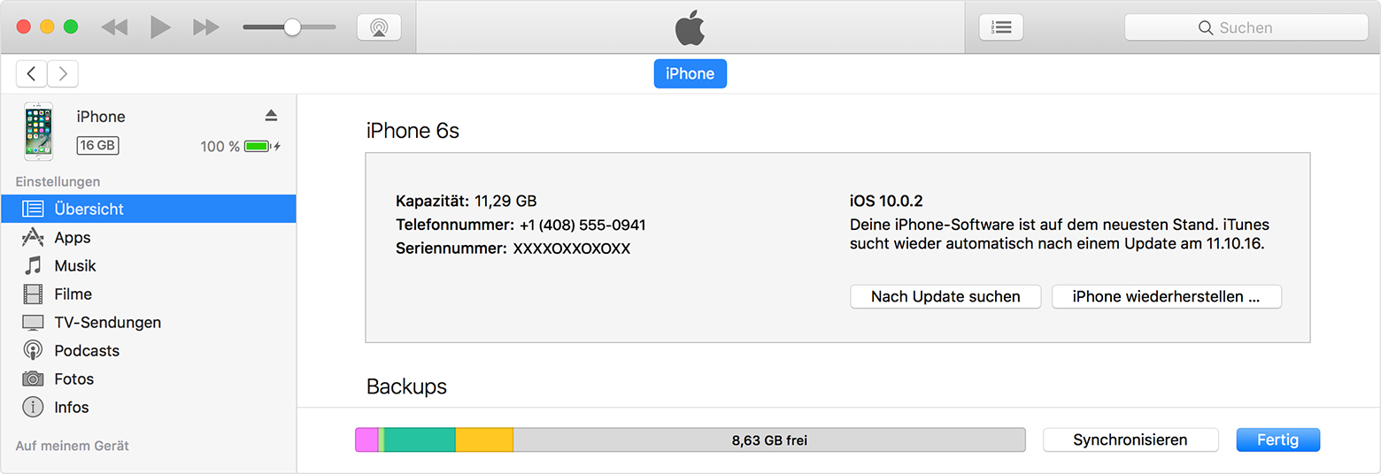 iOS-Software auf dem iPhone, iPad oder iPod touch ...