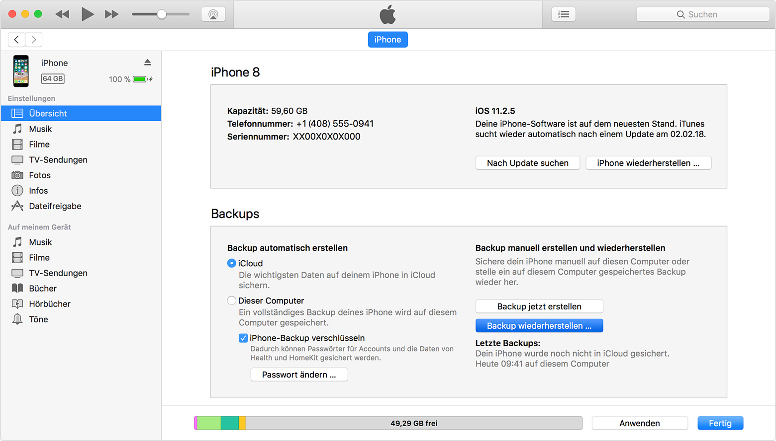backup iphone on mac das iphone oder den ipod touch aus einem backup 9756