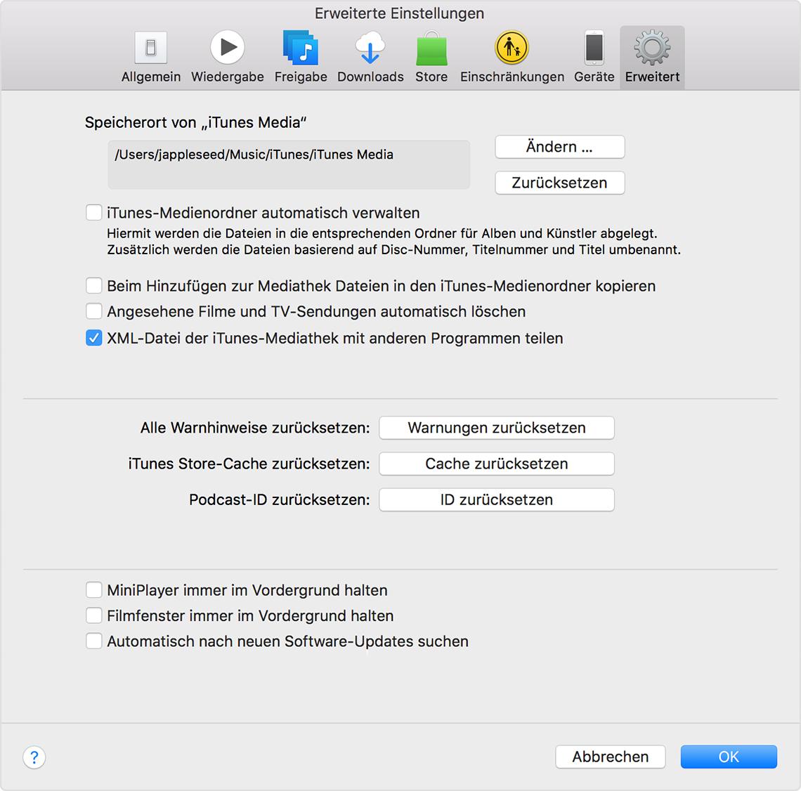 Wie finde ich Backup-Dateien auf itunes mac?