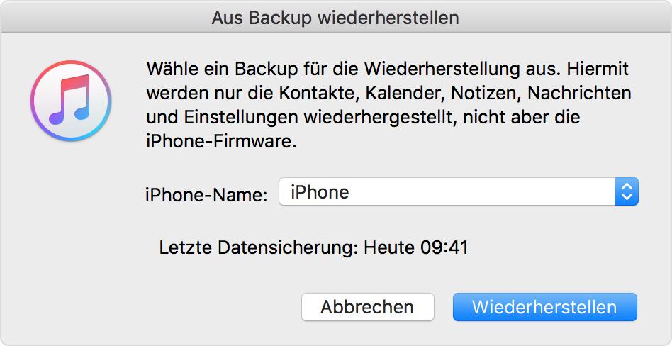Backup Iphone 5 Wiederherstellen