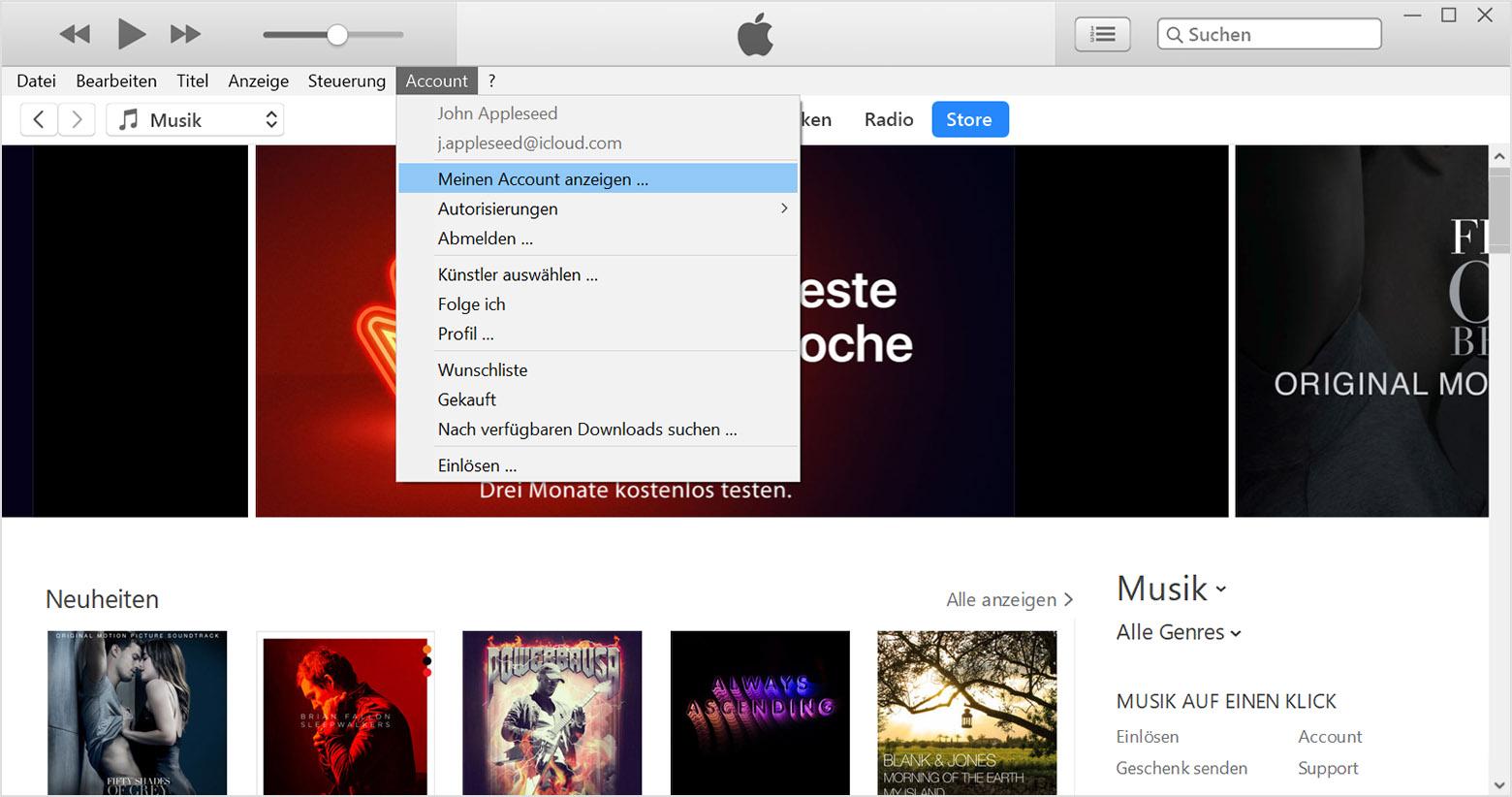Computer in iTunes autorisieren - Apple Support