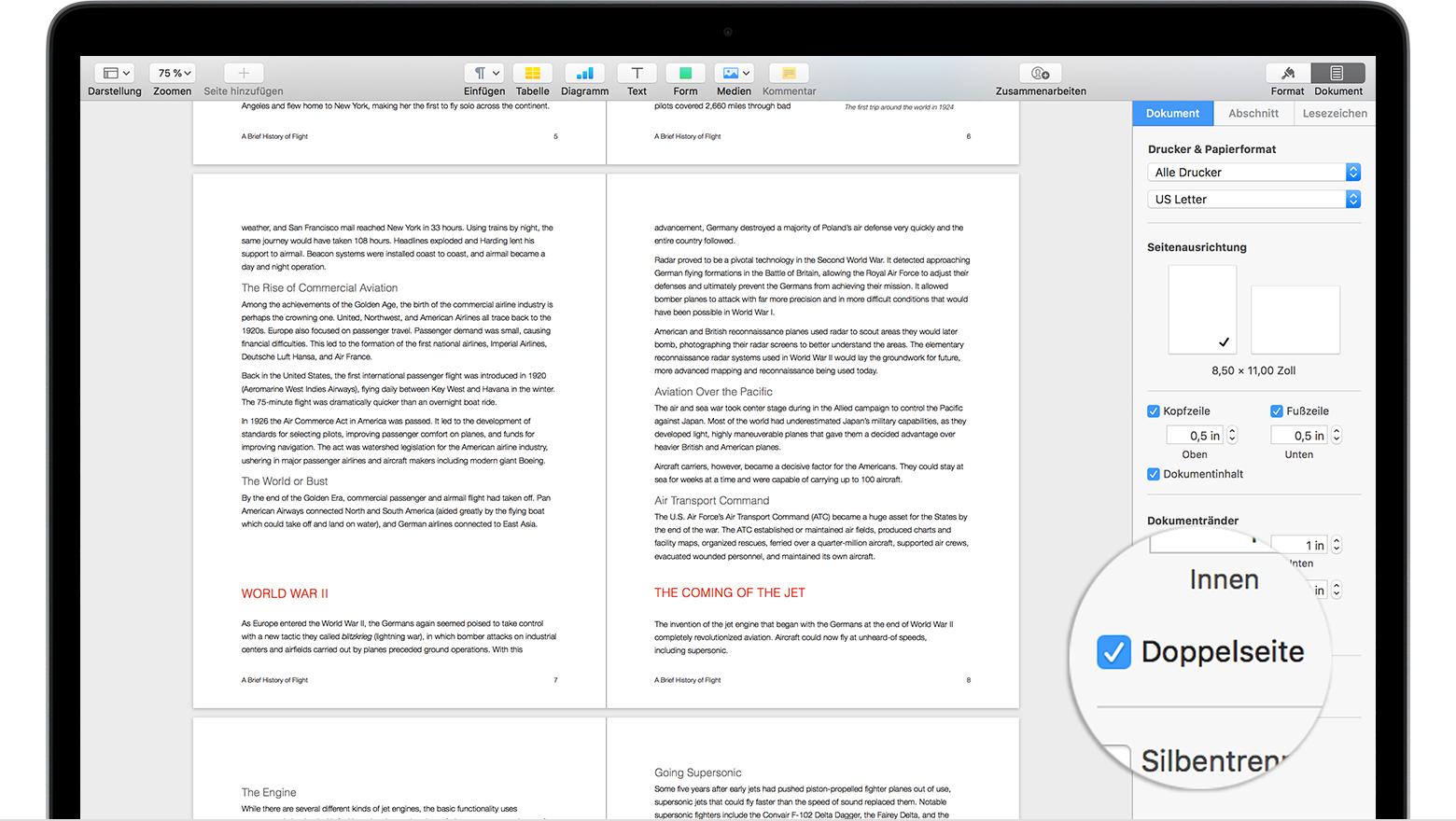 Dokumente In Pages Einrichten Apple Support