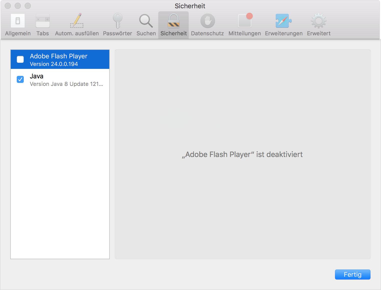 Verwendung Von Internet Plug Ins In Safari Fur Mac Apple Support