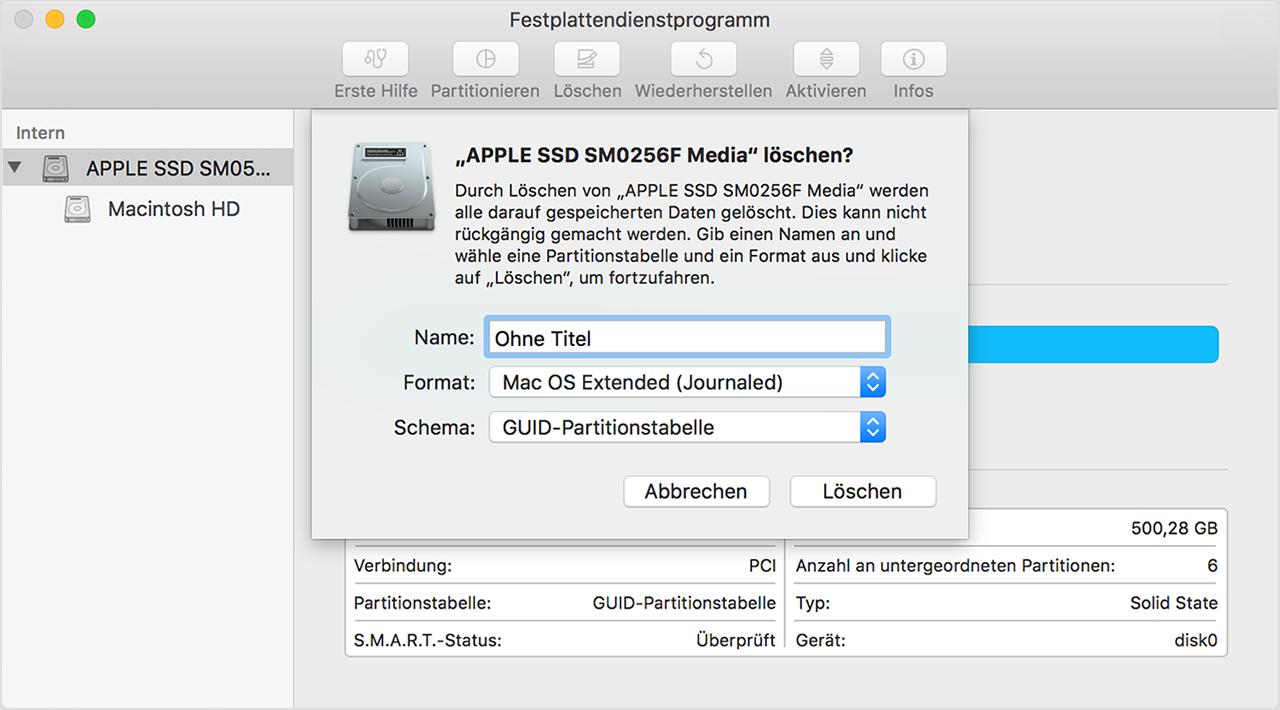 Mac Löschen Und Neu Installieren