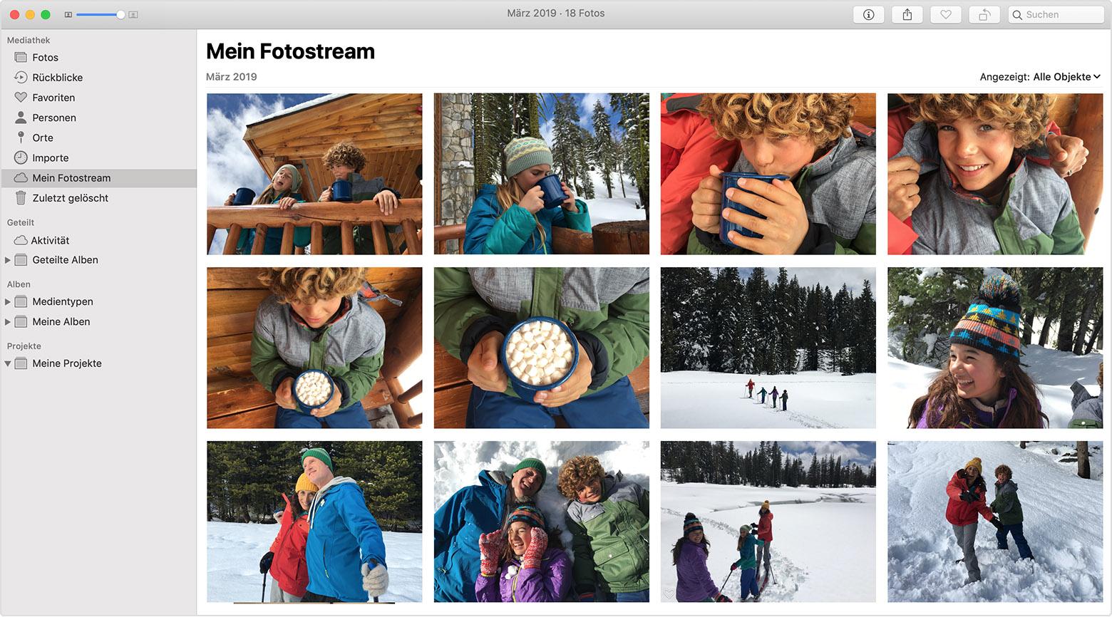 Mein fotostream icloud