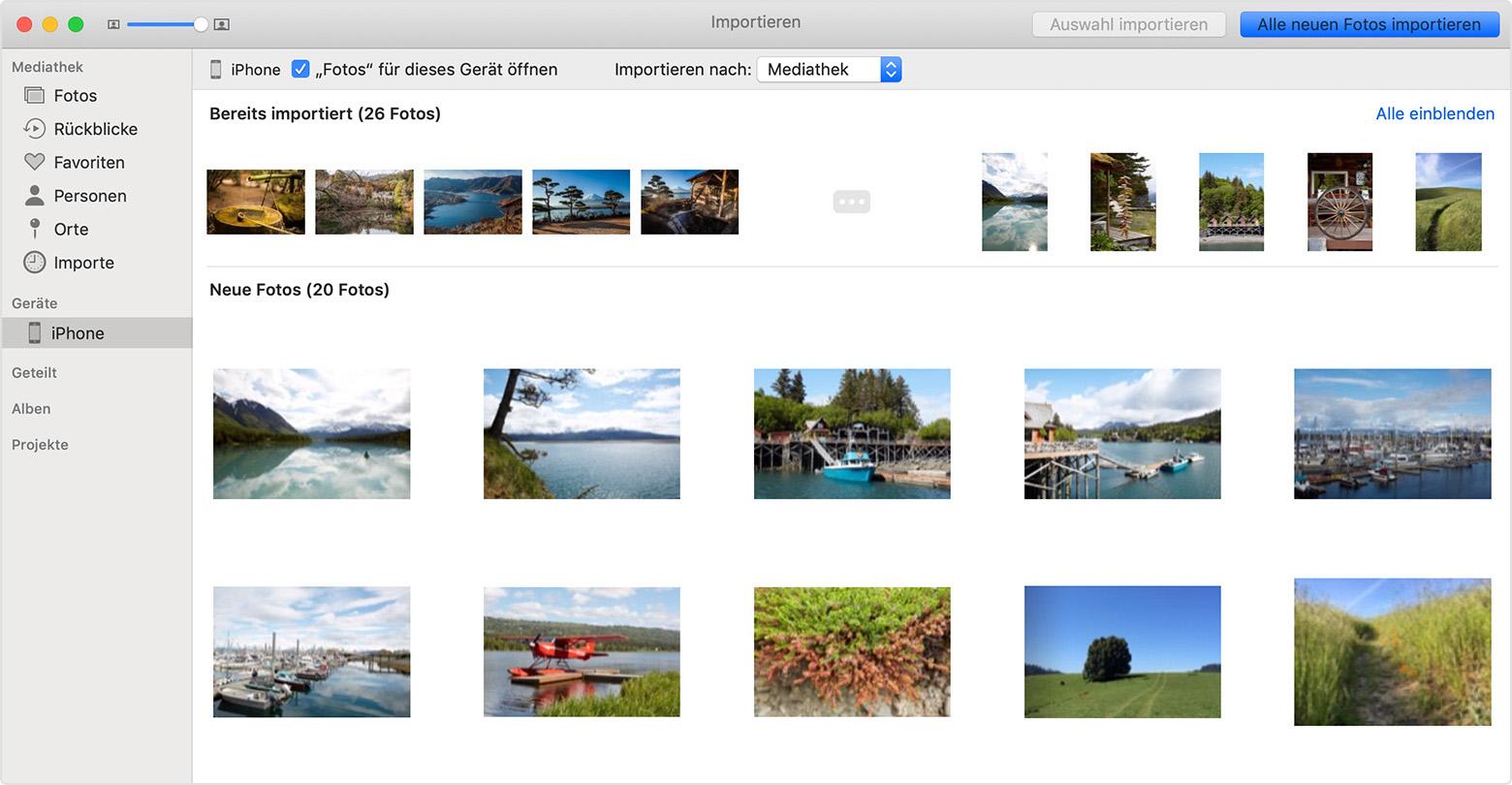 Apple bilder auf iphone übertragen