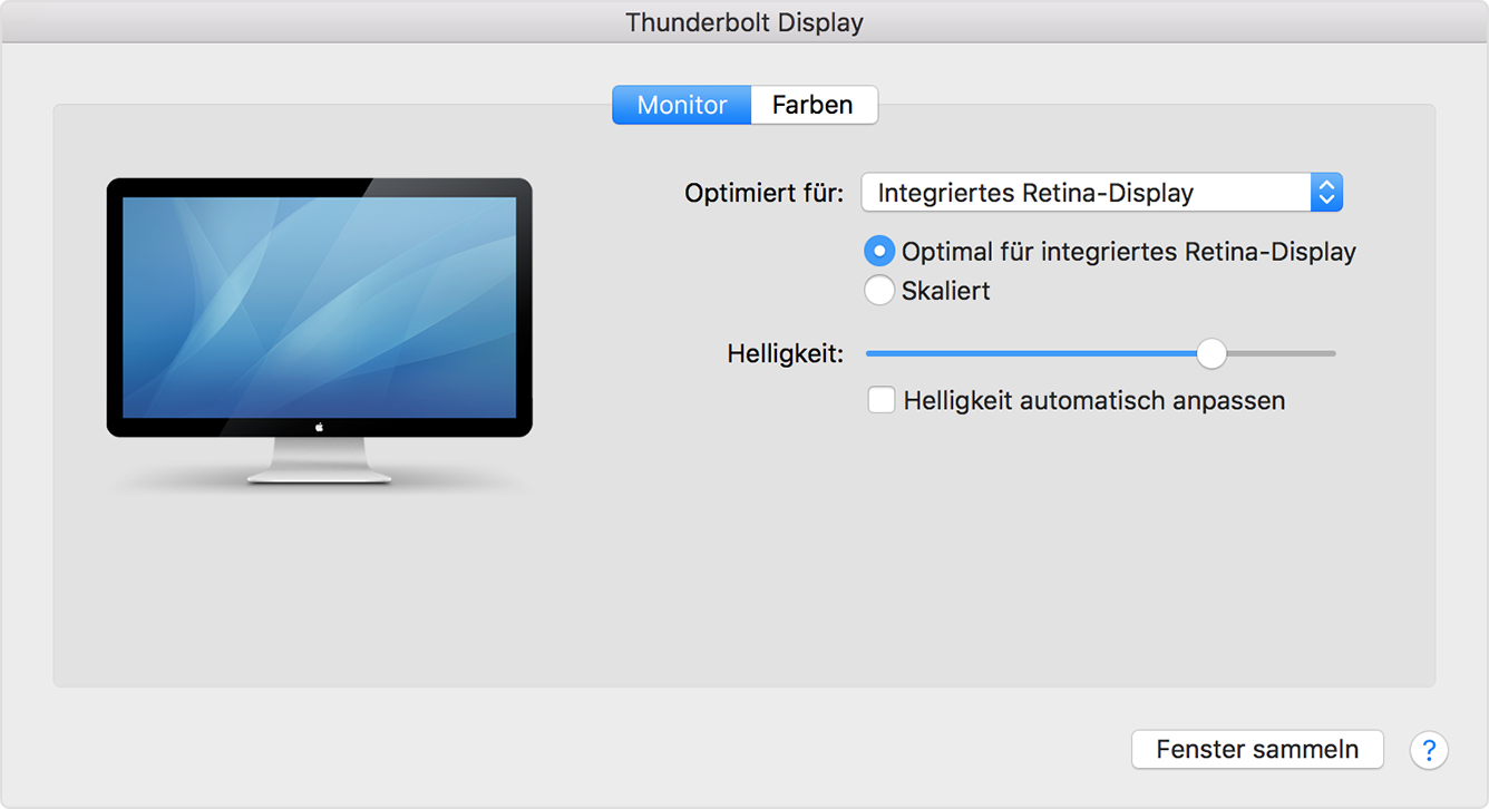 Mehrere Displays mit Ihrem Mac verwenden - Apple Support