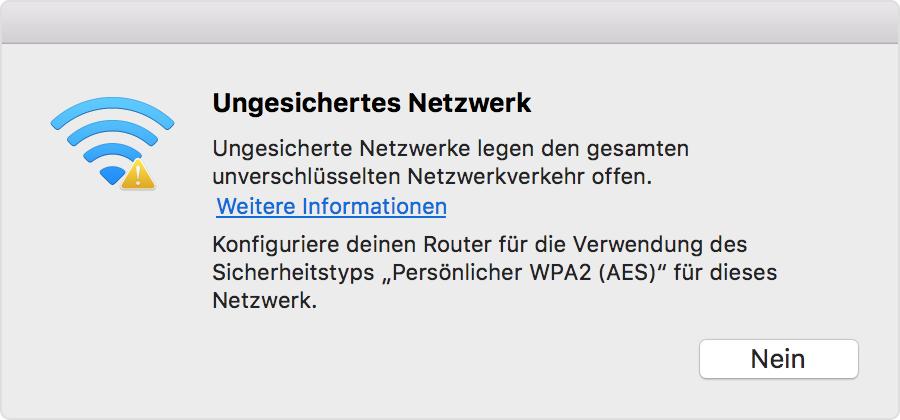 Wenn Ihr Mac Per Wlan Keine Verbindung Zum Internet
