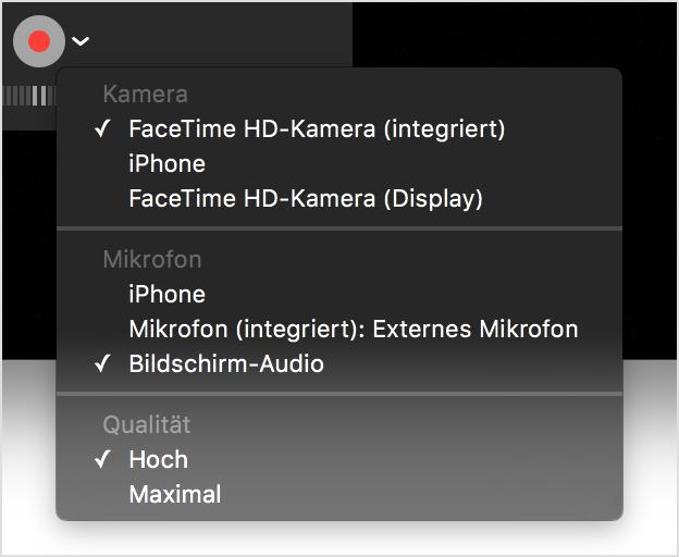 mikrofon aufnahme mac os x