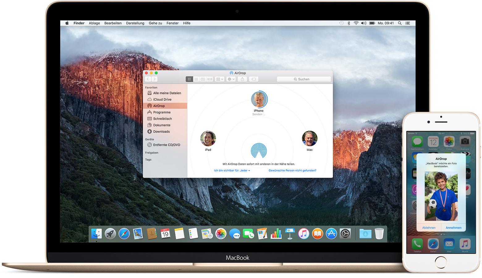 daten übertragen iphone macbook