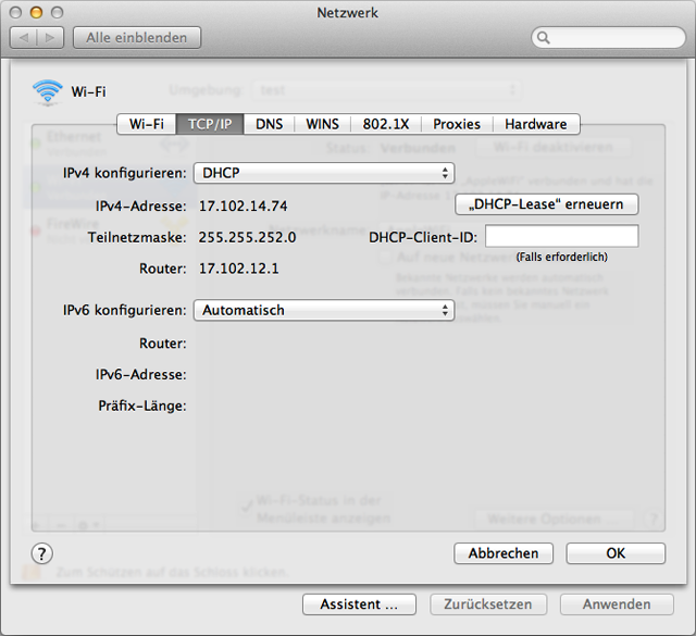 mac netzwerk verbunden aber kein internet
