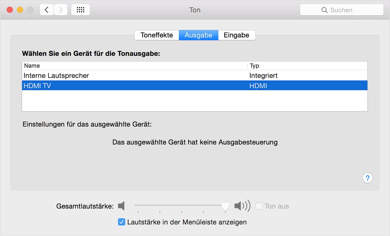 Mac per HDMI anschließen - Apple Support