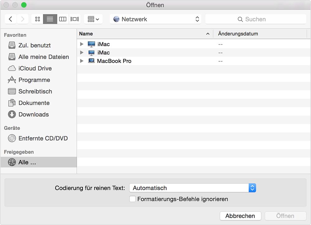 mac os x mit windows freigabe verbinden
