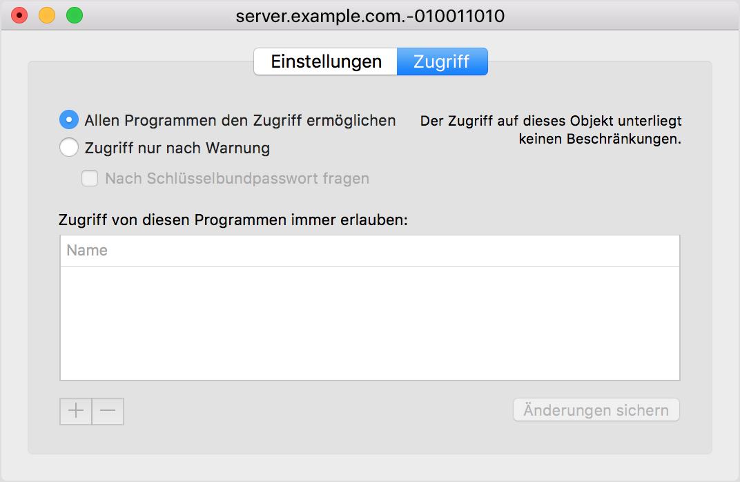 Zertifikate für macOS Server überprüfen - Apple Support
