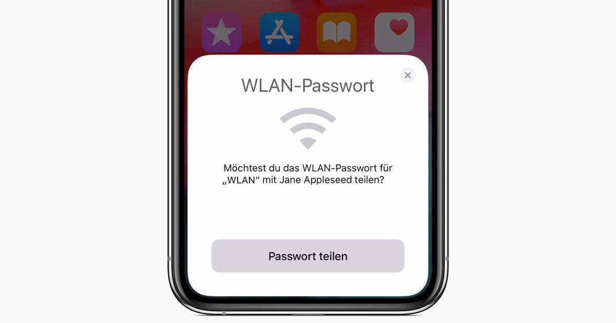 Wlan Passwort Teilen Iphone