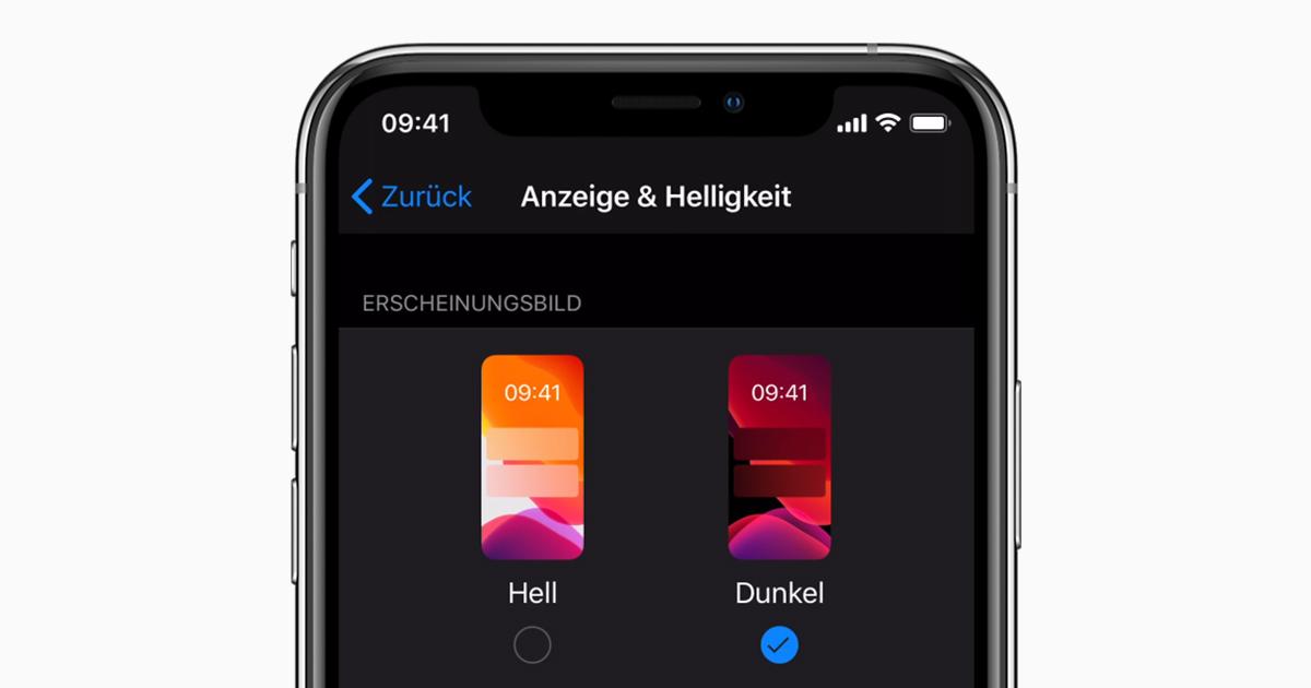 Dunkelmodus Iphone