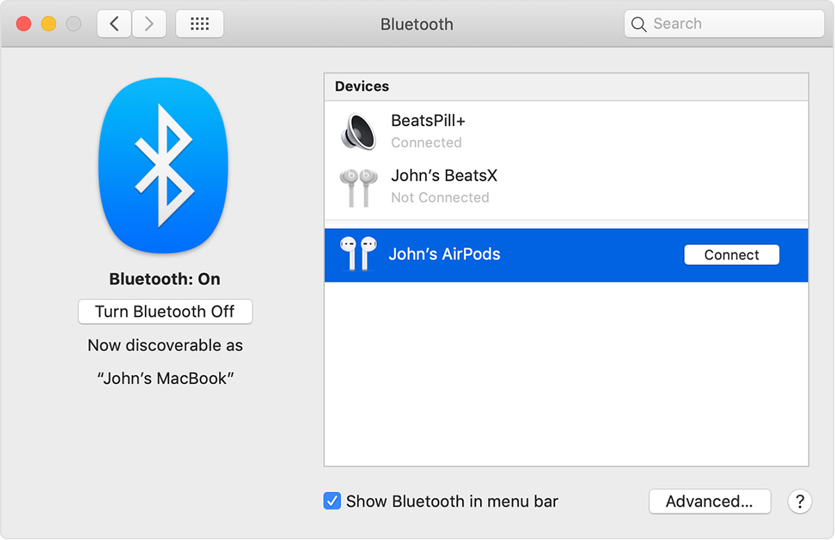 Set up AirPods with your Mac and other Bluetooth devices - Apple Support