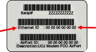 how to find hardware ethernet address mac