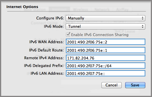 AirPort base station: IPv6 Tunnel Error after installing firmware ...