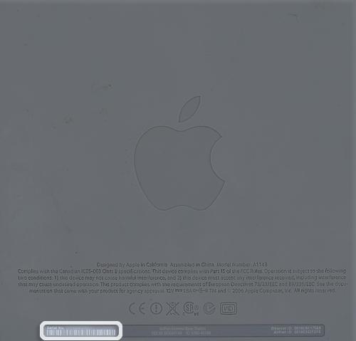 search macbook air serial number
