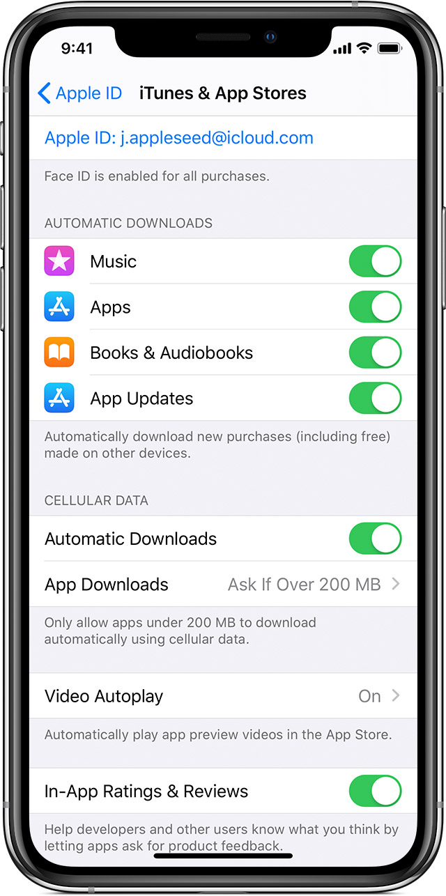 Update apps or use automatic downloads - Apple Support