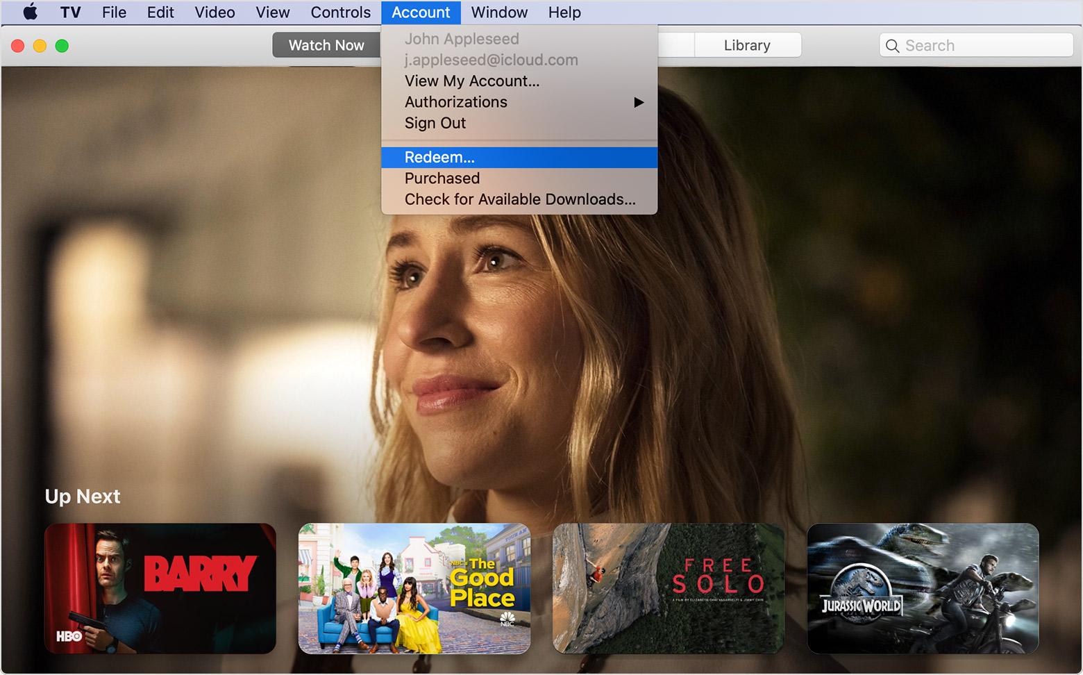 Redeem digital copies of DVDs or Blu-rays in the Apple TV