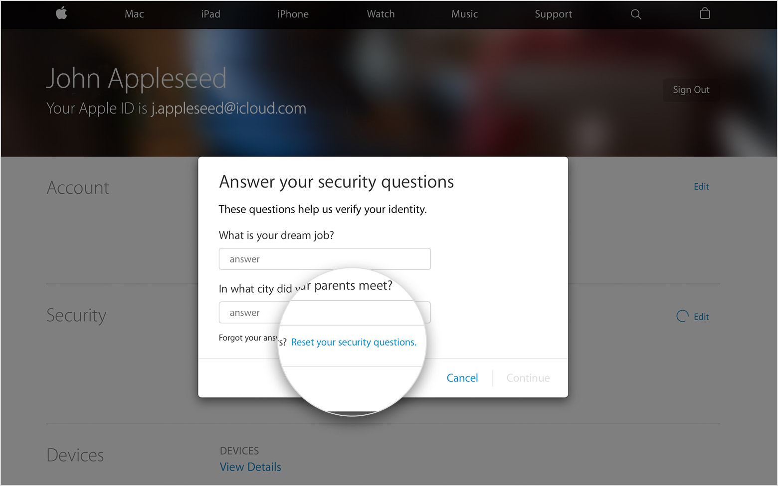 how to set up two step authentication on apple