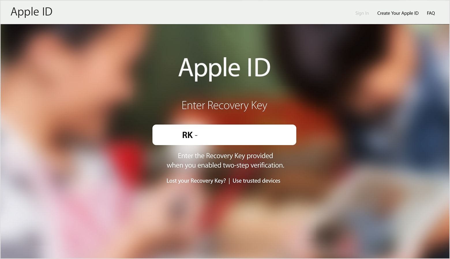 apple forgot password account recovery