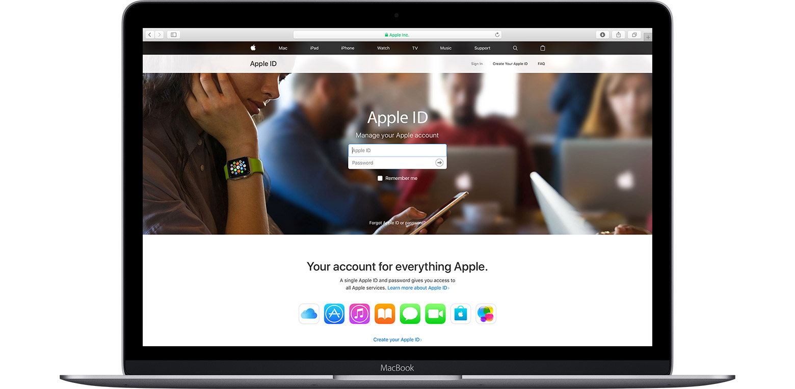 Mac showing Apple ID account page