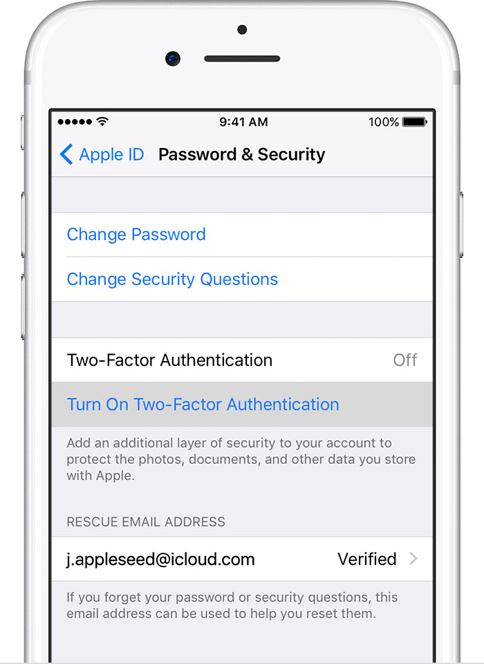 Apple Id verification code different Number