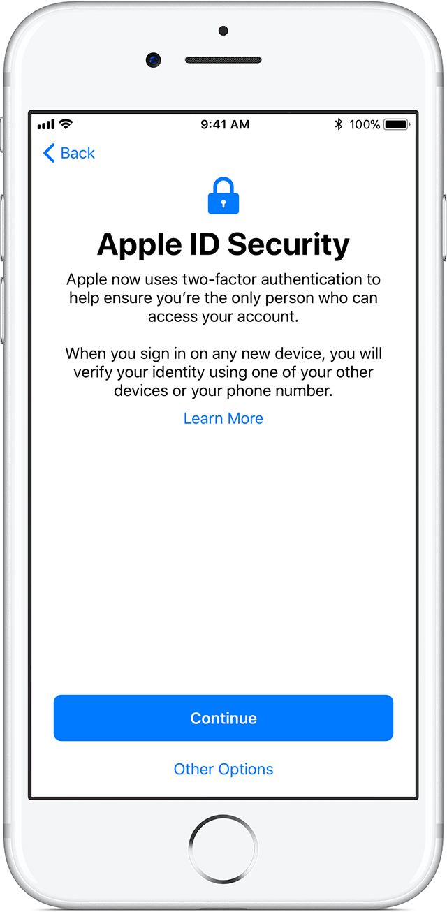 how to put new apple id on iphone