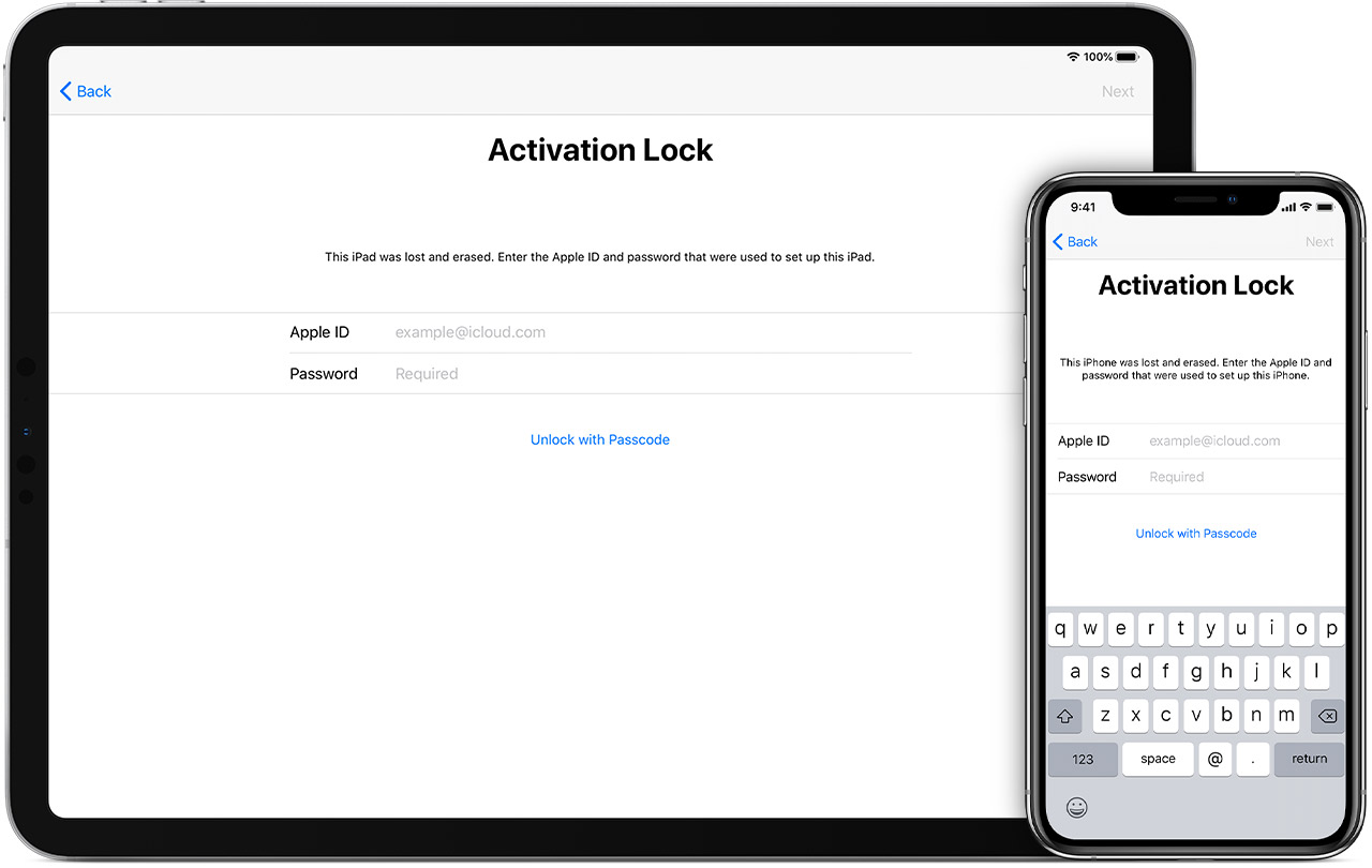 Activation Lock on iPad and iPhone