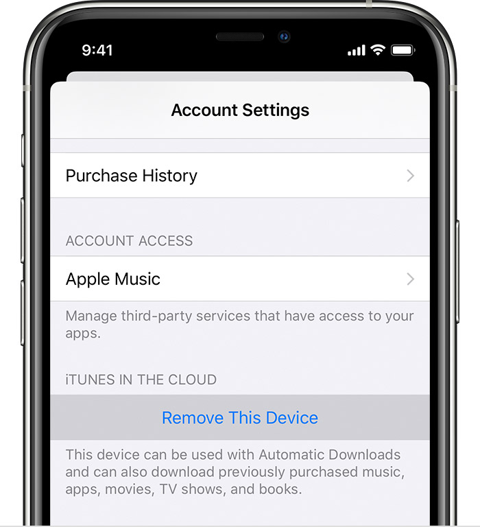 View and remove your associated devices for purchases - Apple Support