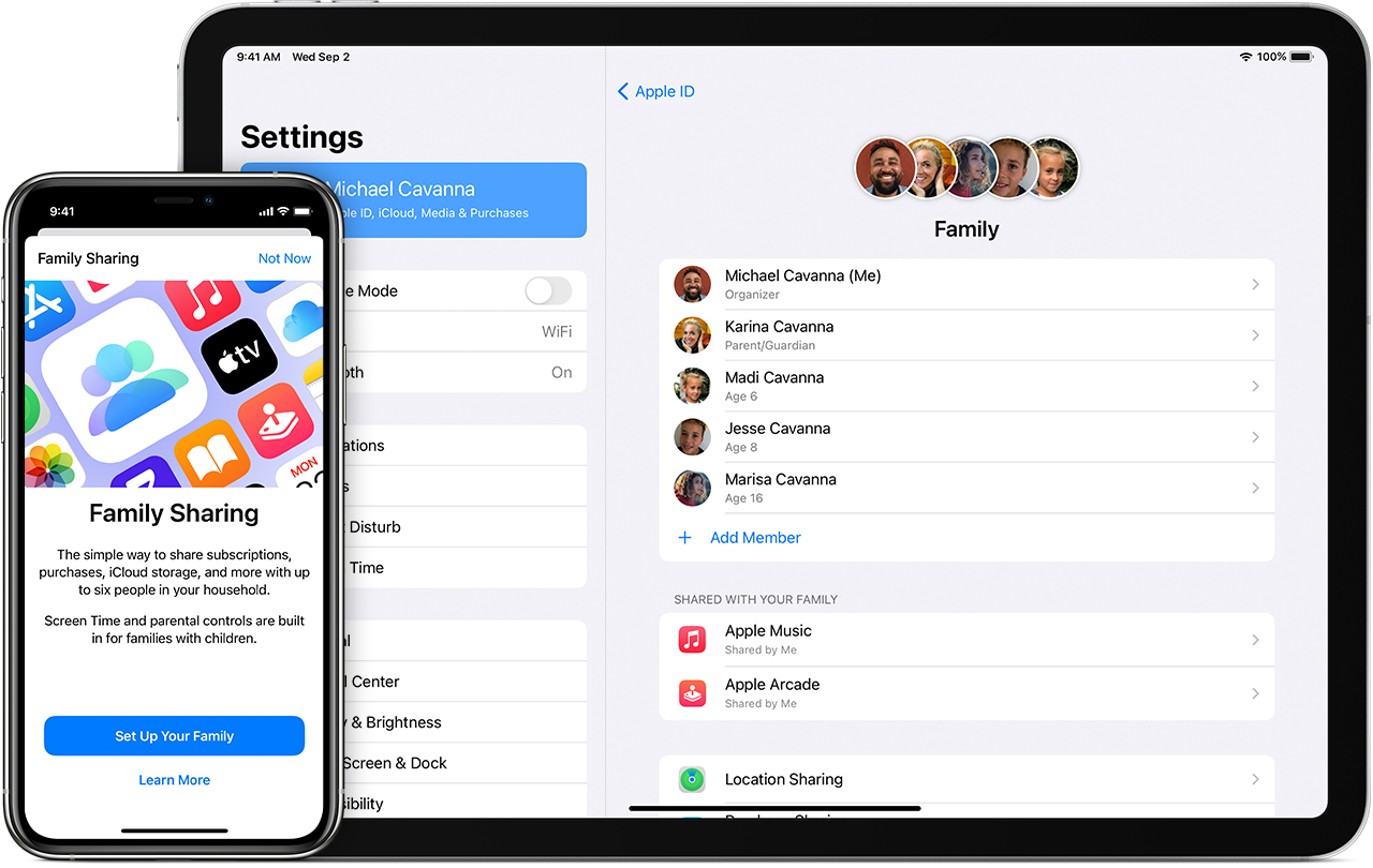 Set up Family Sharing - Apple Support