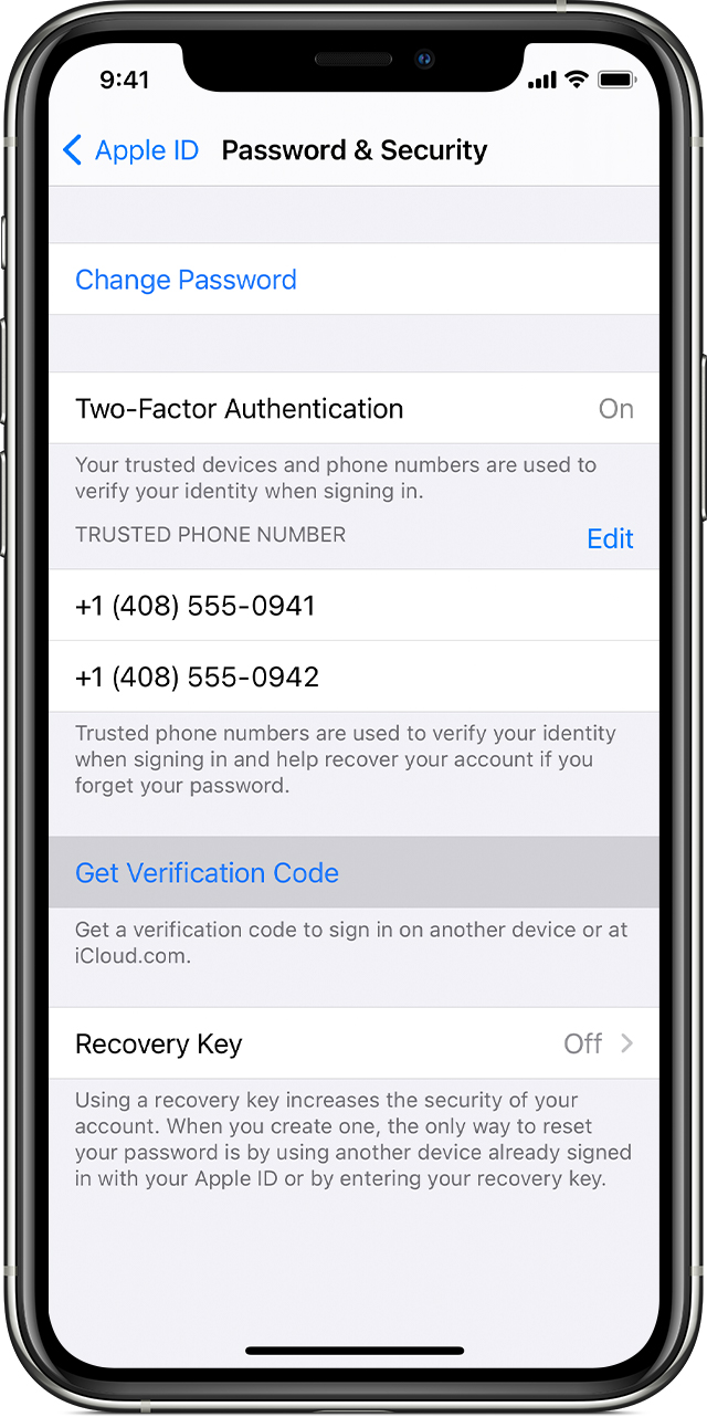 Get a verification code and sign in with two factor authentication ...