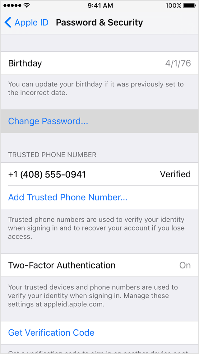 how to make a new apple id and password