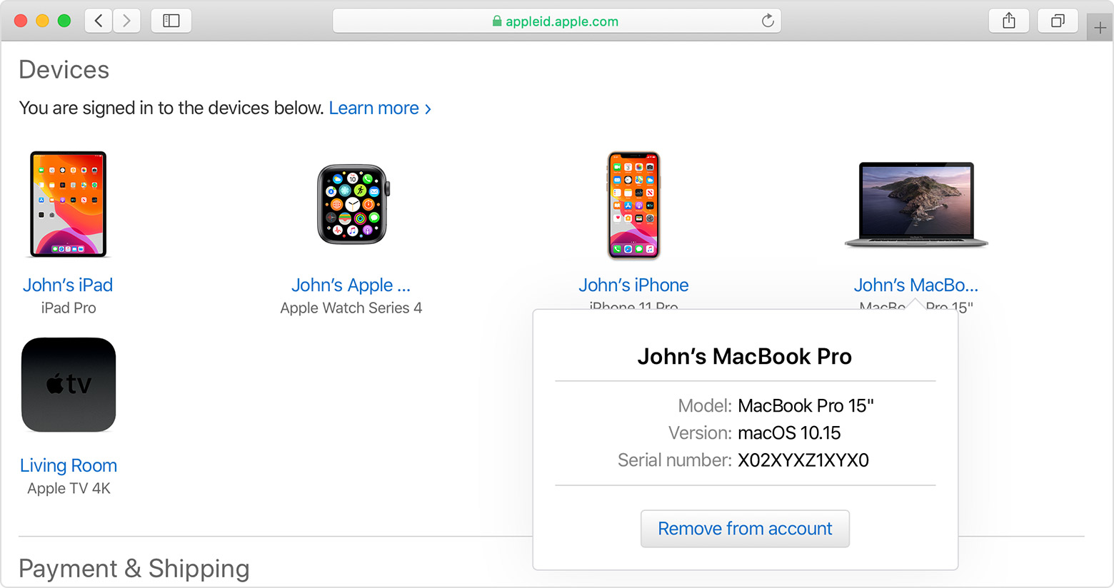 Check your Apple ID device list to see where you're signed in - Apple  Support
