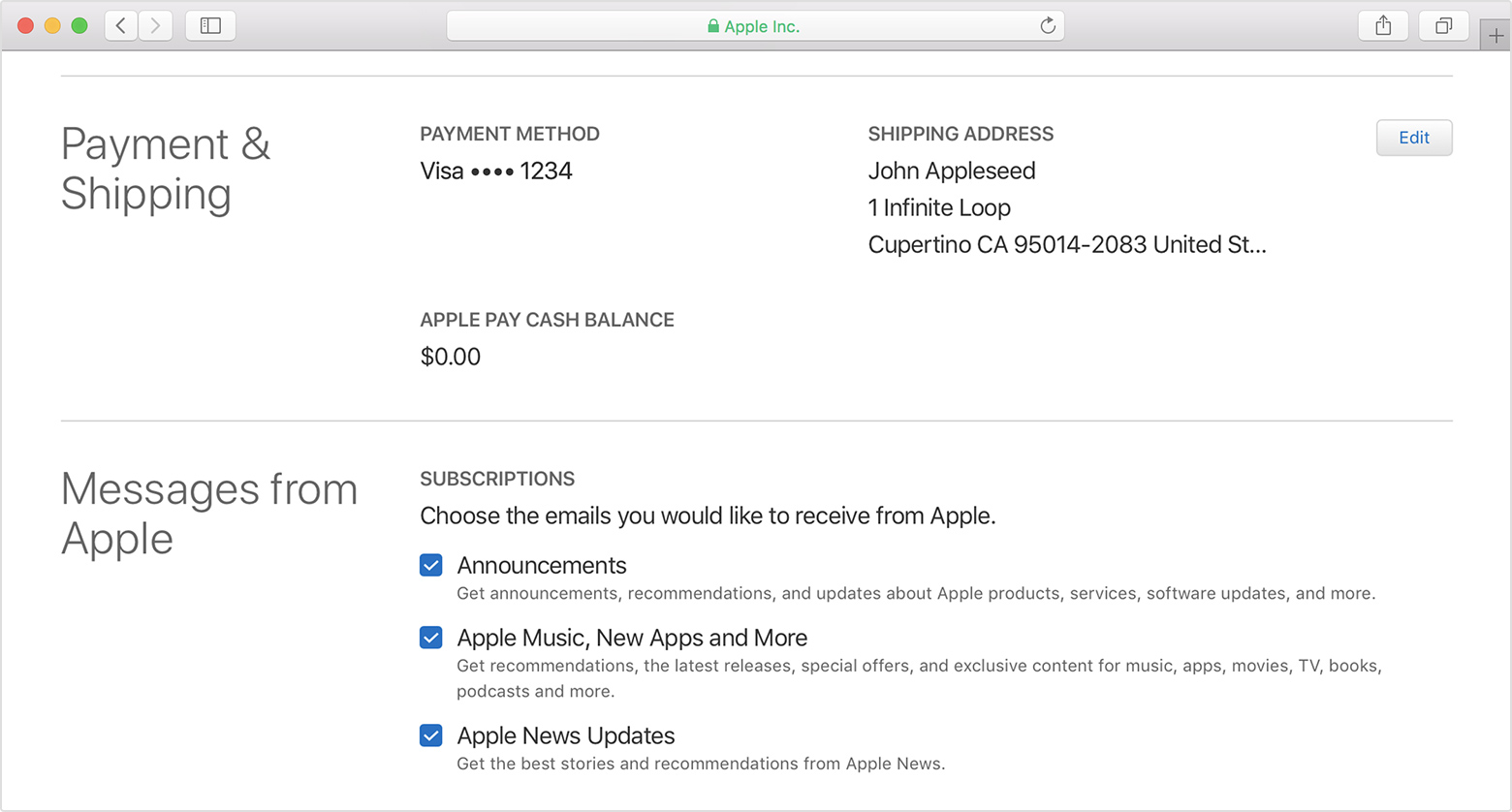 how to change update apple id