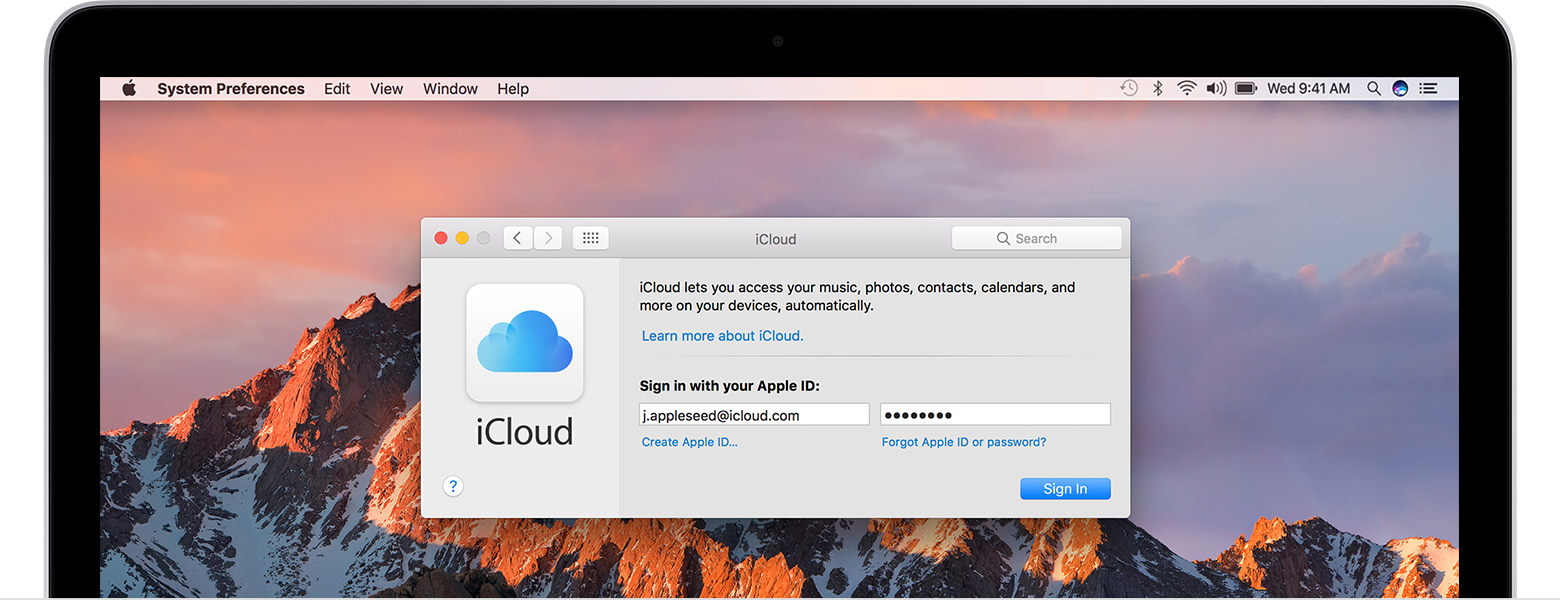 how to change icloud id in mac