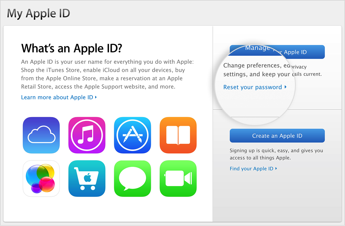 Go to My Apple ID and select
