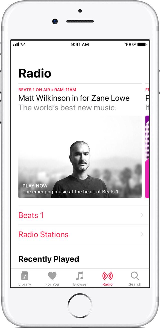 listen to radio in apple music apple support