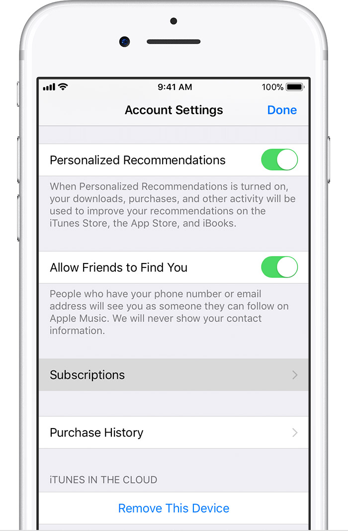 how to cancel subscription on iphone view change or cancel your subscriptions apple support 18613