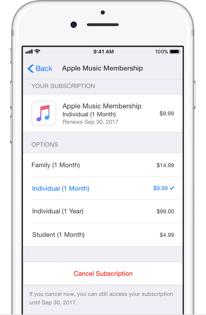 How to end a subscription on iphone