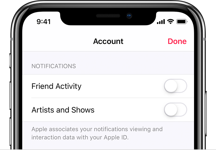 Get Apple Music notifications - Apple Support